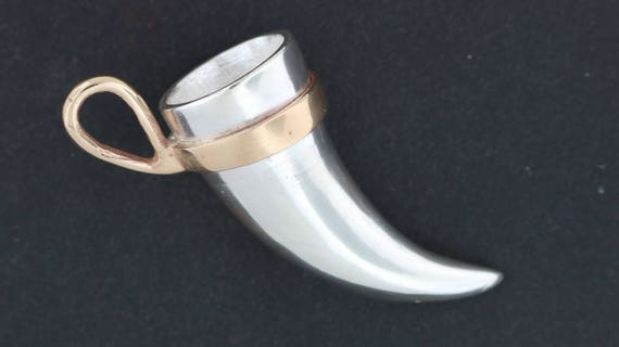 Sterling Silver Drinking Horn Pendant