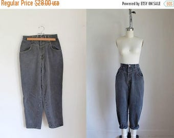 "20% off SALE vintage 1980s jeans - USA USA gray high waist denim pants / M 28"""