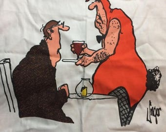 20% SALE Herman Comic Apron All the Girls are out Sick Jim Unger The Vancouver Sun 1980 Retro Cooking Apron Playbunny