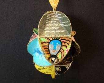 Santana Band Album Cover Ornament Made From Record Jackets - Carlos Santana
