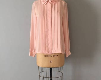25% OFF SALE... pleated rose pink blouse || petal collar blouse || pleated collar blouse