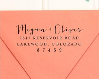 Address Stamp, Return Address Stamp,  Self Inking Return Address Stamp, Wedding Return Address Stamp, RSVP Stamp, Custom Stamp - No. 63