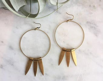 Long beam earrings