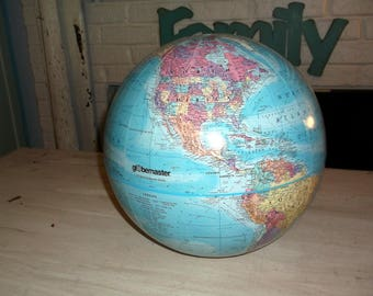 Project Globes Upcycle Repurpose  12 inch Globe Master