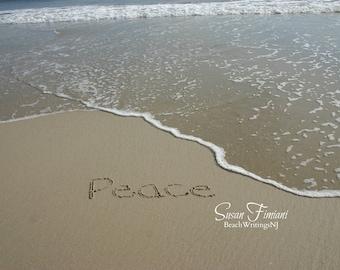 Peace Sand Beach Writing  Fine Art Photo