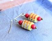 Dainty Krobo bead earring...