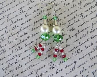 Cute Beaded Christmas Elf Earrings