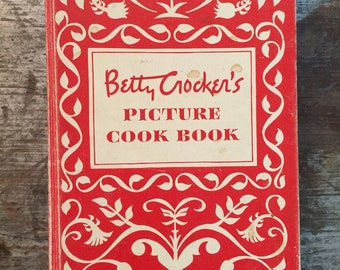 1950 First Edition Fifth Printing Betty Crocker's Picture Cook Book Cookbook