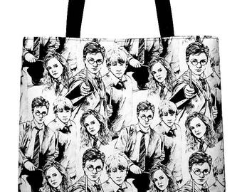 Harry Potter Characters Large Carryall Tote Bag