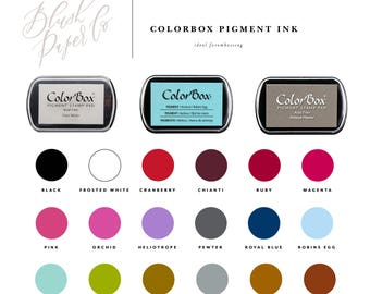 ColorBox Pigment Stamp Pads, Ink Pad, Embossing Ink Pad, Rubber Stamp Ink, Stamp Pad