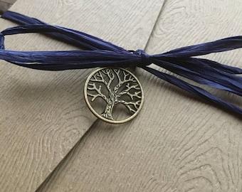 Watercolor Tree of Life Wood Grain Wedding Invitation