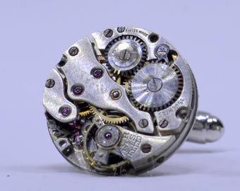 Watch movement cufflinks ideal gift for a wedding, birthday or anniversary