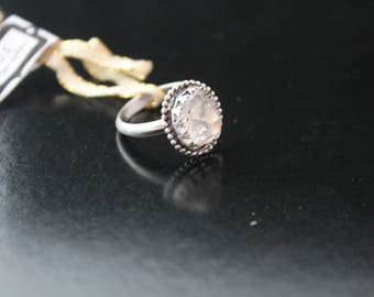 Herkimer quartz ring