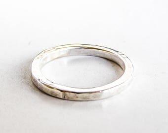 Wedding Band 3mm, Sterling Silver band, Wedding Band, Eco Friendly ring, Handmade Wedding Ring,Sterling Silver Ring, Men's ring, women ring