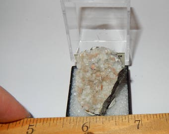 Natrolite on Calcite with Analcime