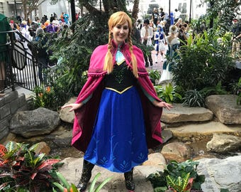 Custom Fit Adult Anna Frozen Costume, Custom Made- Couture
