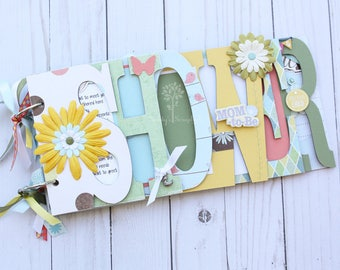 Baby shower guestbook, Baby shower photo album, premade scrapbook, baby shower memories, personalization, baby shower decorations