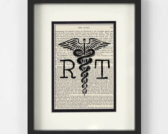 Xray Tech Gift, Radiologist Graduation Gift - RT, Radiology Technologist over Vintage Medical Book Page - Radiology Gift, Radiology Tech