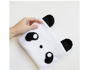 ON SALE - Panda Pouch - Animal Make Up Bag, Kawaii Pencil Case, 3DS Case