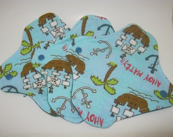 3 Cloth Panty Liners-Pirate Ships Ahoy