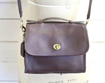 Coach Cross body bag in Chocolate brown
