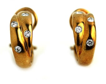 Vintage Tiffany and Co. Diamond Earrings .40ctw 18K Yellow Gold