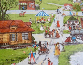 R. Smith Small Town Day at The Fair Painting Print