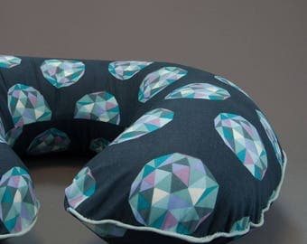 Meteor Shower Boppy Cover, Nursing Pillow Cover, Boppy Slipcover with Zipper and Piping, Cotton Boppy Cover, Boppie Cover, Geometric