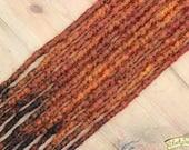 Fox SE x12 Crochet Synthetic Dreads - orange red copper