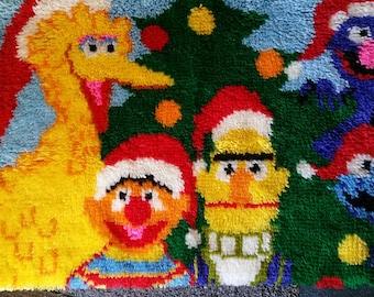 Sesame Street Childrenu0027s Rug Handmade Hooked Kids Love It