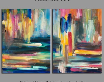 "Original oil Painting Abstract Painting 48"" Canvas  art, free dynamic Brushwork, fresh eye-catching focal point"
