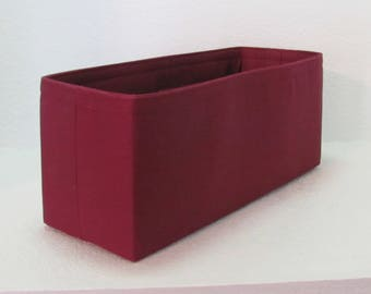 Ready to Ship .. 14L x 5D x 6T ..Purse Insert ORGANIZER Purse Shaper ...Burgundy rose ..strong and durable (23C)