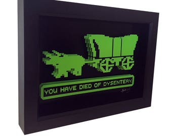 Oregon Trail Game Video Game Art Computer Game Print Video Game Print 3D Art Retro Video Game Retro Computer Game Cult Art
