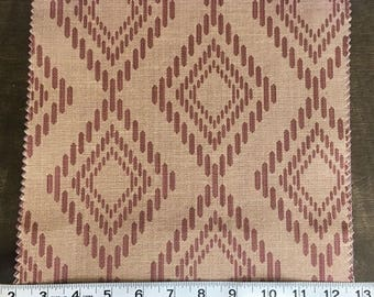 Custom Curtains Valance Roman Shade Shower Curtains in Rust Diamond Pattern Fabric