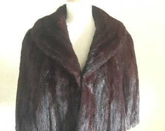 25% OFF SALE 1960s brown mink fur stole size S