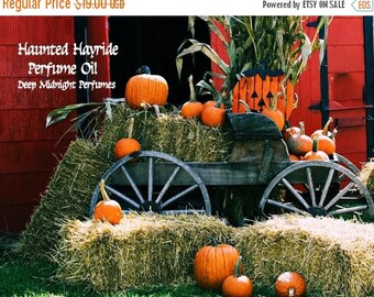 15% off HAUNTED HAYRIDE Perfume Oil - Pumpkins, Roasted Marshmallows, Candy, Soft Hay, Frankincense - Gothic Perfume - Halloween Perfume,