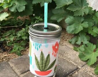 Succy Love sleeve straw lid DIY mason jar tumbler