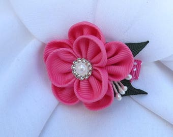 Little Girls Kanzashi Flower Hairclip Pick your color