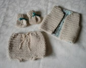 Tiny Newborn 3 Piece Vest Sets (RESERVED for N)