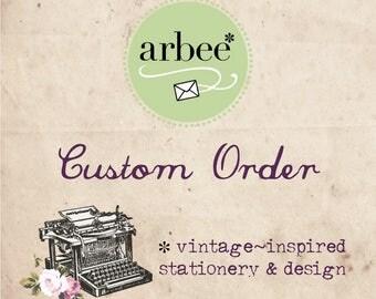 Custom order for R & W