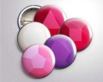 "1"" Steven Universe Crystal Gems Buttons"