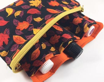 Small Zippered Essential Oil Holder Essential Oil Case Essential Oil
