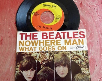 August Vinyl Blow Out 10% OFF Already Low Prices The Beatles 1966  NOWHERE MAN / What Goes On  45  Record w/sleeve Capitol Records 5587