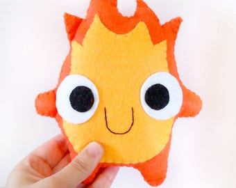 Bg cute calcifer (howl's moving castle) fire plush