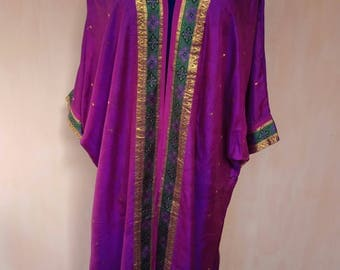 Pure silk robe. Silk kimono, silk cardigan, silk kaftan, bohemian kaftan, tribal robe