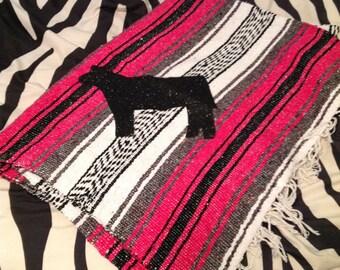 "Personalized Stockshow Animal Mexican Serape 50"" x 75"" Blanket"