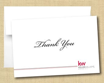 Set of Thank You Cards - Keller Williams Script