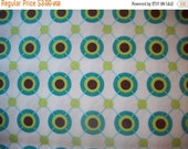 Spring Cleaning Sale Michael Miller Fabric - Half Yard Large Ditto Dots in Aqua