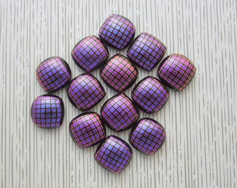 Dichroic Fused Glass Mini Cabs, Dichroic Beads, Dichroic Cabochons, Glass Beads, Buttons, bracelet findings, Earring findings 4023