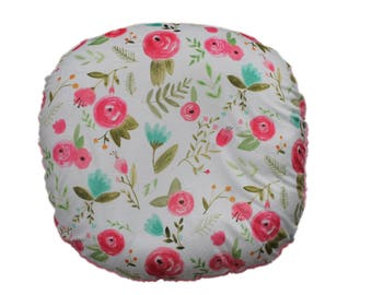 boppy lounger cover- floral minky  cover floral minky boppy lounger cover-all minky cover